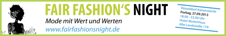 FAIR FASHION'S NIGHT am 27.09.2013 im Hotel MutterHaus